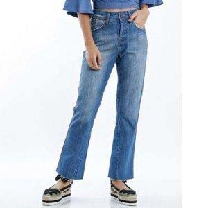 Calça Jeans Mom Cropped Tamanho: 36 - Cor: Azul