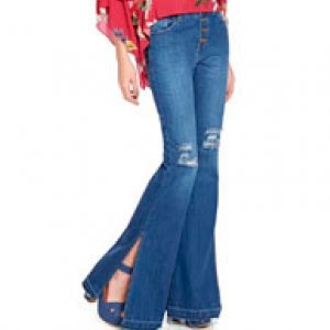 Calça Jeans Flare Fenda Lateral - 44