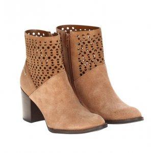 Ankle Boot Camurça Castanho