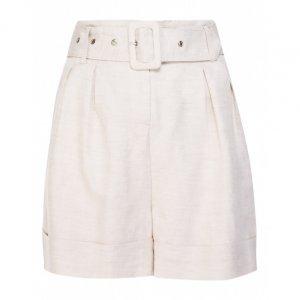 Shorts De Linho Com Cinto