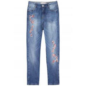 Calça Jeans Na Base Istambul Com Bordado