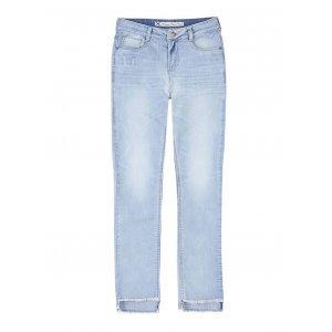 Calça Jeans Skinny Feminina Hering Cintura Alta Com Degrau Na Barra