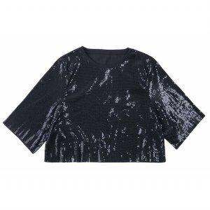 Cropped T-Shirt Em Paetês