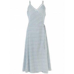 Vestido Midi Regata Em Tecido De Viscose Com Amarração E Decote Em V