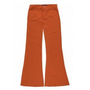 Calça Pantalona Em Tecido De Crepe Em Alfaiataria
