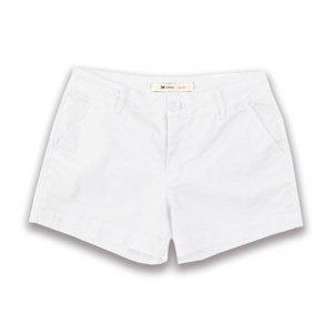 Shorts Feminino Básico Em Tecido De Algodão Com Elastano
