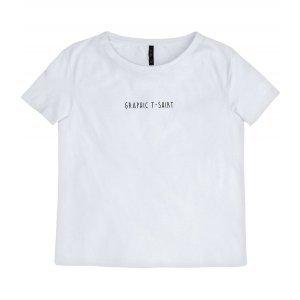 T-Shirt Em Malha De Algodão Com Lettering Print
