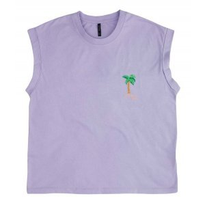 T-Shirt Box Em Malha Com Bordado Frontal