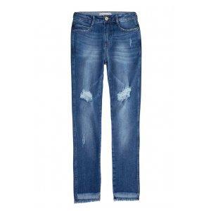 Calça Jeans Na Base Berlin Com Barras Assimétricas E Rasgos