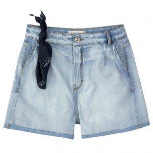 Shorts Jeans Boyfriend Com Barras Dobradas