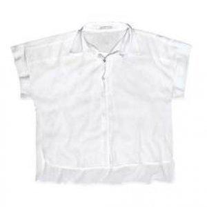 Camisa Em Tecido De Algodão E Viscose Com Fechamento Por Botões