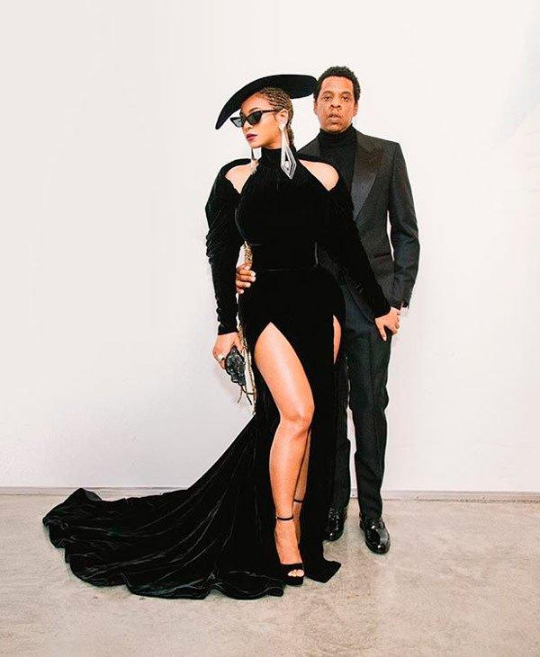 Beyoncé (que veste Custom Nicolas Jebran) & Jay-Z