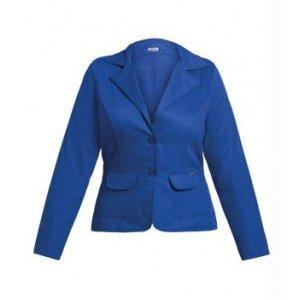 Blazer Em Sarja Azul Plus Size