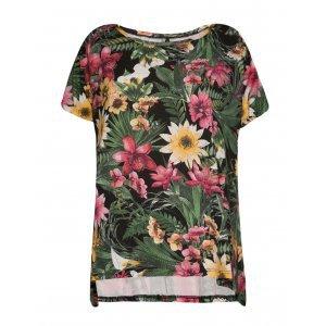 Blusa Feminina Ampla Com Pontas Floral