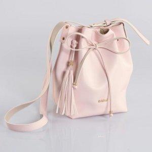 Bolsa Saco Rosa Quintess  Com Amarração
