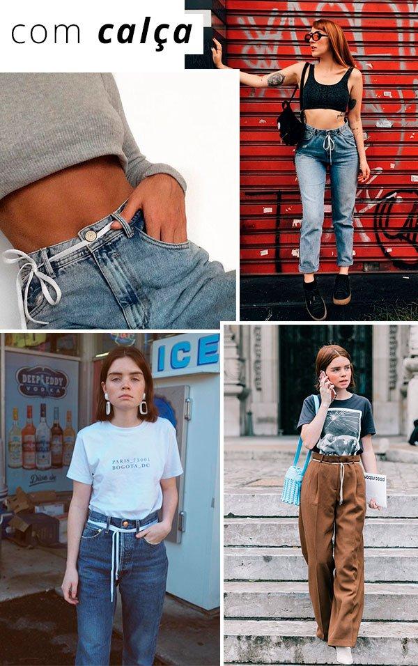 1 minute styling tip: cadarço na cintura