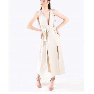 Vestido Moreira  Tamanho: 42 - Cor: Off White
