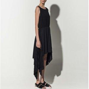 Vestido Plissado Malha Black