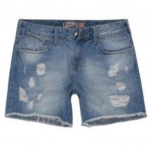Shorts Jeans Feminino Barra Desfiada