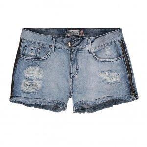 Shorts Jeans Feminino Zíper Lateral