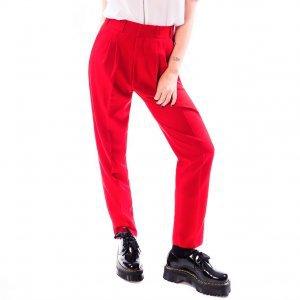 Calça De Alfaiataria Oversized Vermelha Tamanho: 42 - Cor: Vermelho