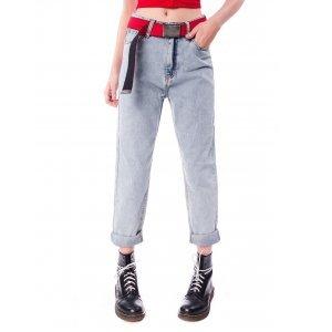 Mom Jeans Saloon 33 E Tabacco E Leather Tamanho: 36 - Cor: Azul
