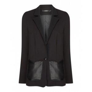 Blazer Com Bolso Detalhes Leather