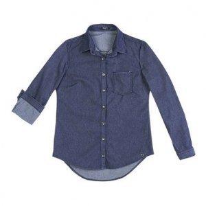 Camisa Jeans Feminina Hering Em Modelagem Slim