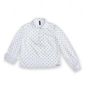 Camisa Em Tecido De Viscose Estampado Com Decote Gota Frontal