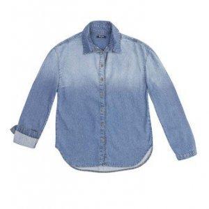 Camisa Jeans Feminina Em Algodão