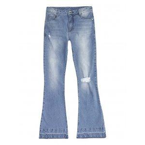 Calça Jeans Feminina Flare Eco Edition Com Cintura Super Alta