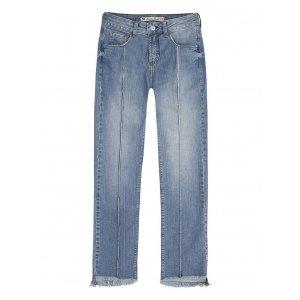Calça Jeans Feminina Skinny Cintura Alta Em Algodão