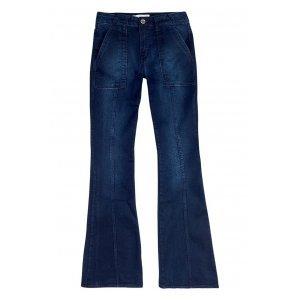 Calça Jeans Na Base Veneza Lavação Escura