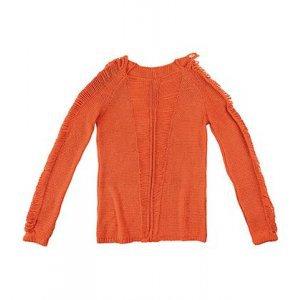 Sweater Em Tricot Com Abertura Na Trama