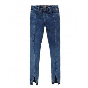 Calça Jeans Feminina Recorte Frontal