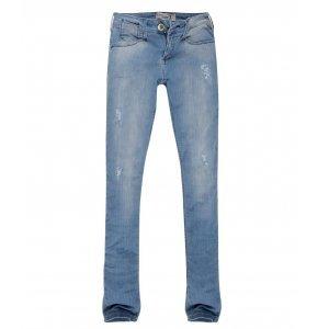 Calça Jeans Stretch Feminina Skinny Rasgada