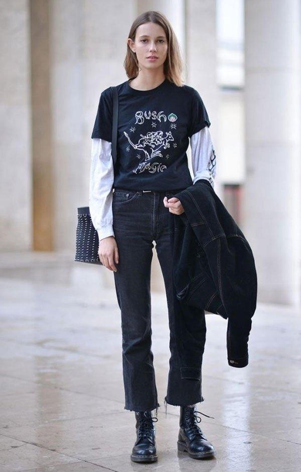 t-shirt street style