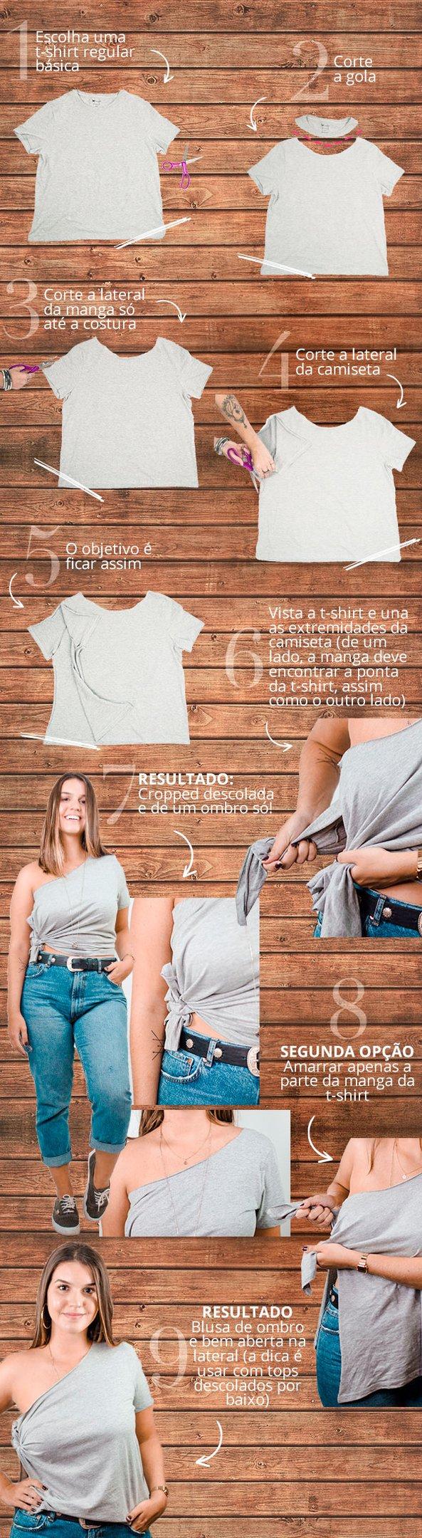 DIY: T-Shirt de Um Ombro Só
