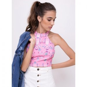 Blusa Cropped Pineapple