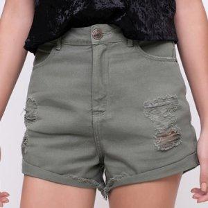 Short Hot Pants Com Barra Desfiada