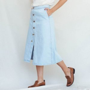 Saia Jeans Midi Tamanho: Pp - Cor: Azul