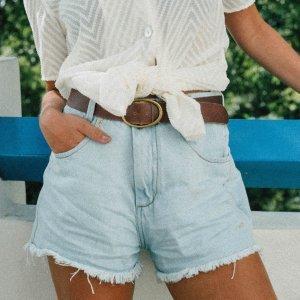 Short Jeans Mom Fade Tamanho: M - Cor: Azul