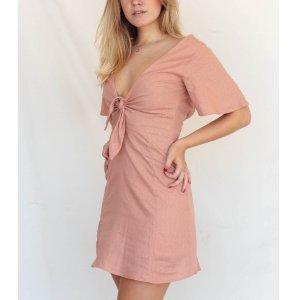 Vestido Amarração Rosê Tamanho: G - Cor: Rosé