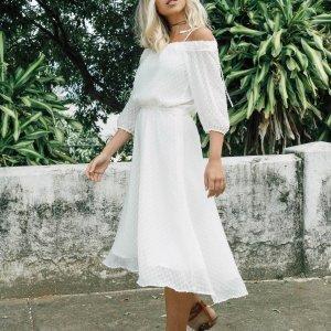 Vestido Lua Off Tamanho: M - Cor: Off White