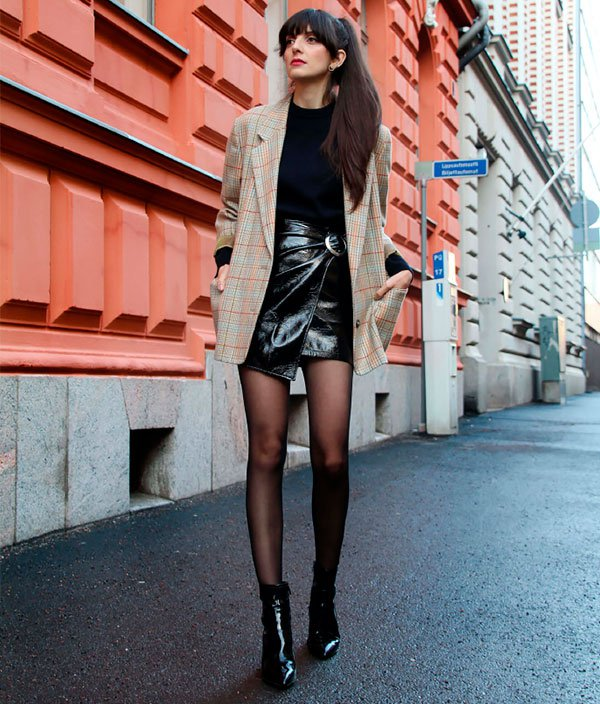 maneiras de usar saia de vinil