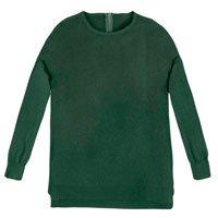 Sweater Em Tricô Com Mangas Ajustadas E Fendas Nas Laterais
