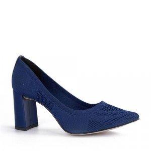 Scarpin Tanara Malha Knit Azul