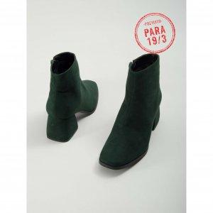 Preview Bota Ankle Suede Verde Tamanho: Verde - Cor: 34