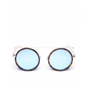 Óculos De Sol Redondo Tortoise