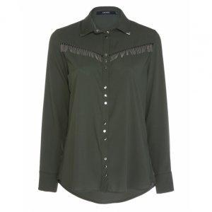 Camisa Western Chiffon Metal